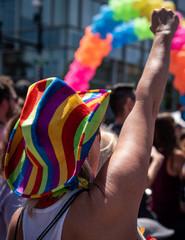 Colorful Gay Pride Parade Hat