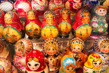 Gift shop. Russian nested doll.