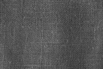 Sack cloth texture in black and white.