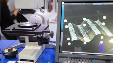 Digital microscope inspect workpiece