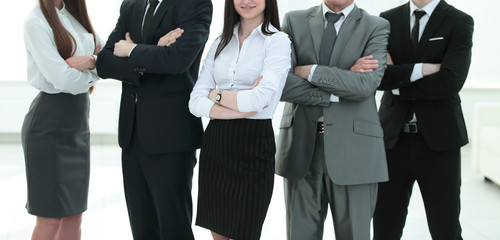 group of business people on a light background