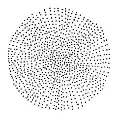 hand-drawn halftone circle
