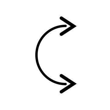 flexibility icon on white background, vector illustration eps10
