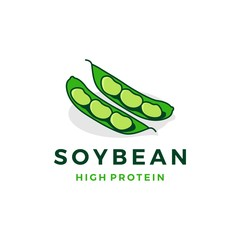 soybean logo vector icon illustration