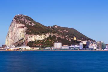 Gibraltar Affenfelsen Felsen Fels The Rock blaue Stunde Abend Nacht