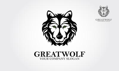 Wolf Head Symbol. Great for Badge Label Sign Icon Logo Design. Creative Vector illustration.