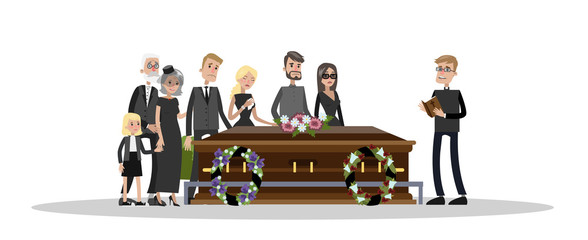 Funeral ceremony at the cemetery