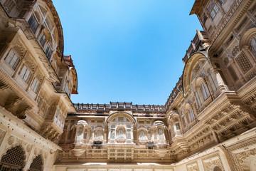 Mehrangarh fort at Jodhpur, Rajasthan, India. An UNESCO World heritage.