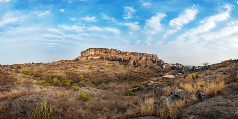 Mehrangarh fort at Jodhpur, Rajasthan, India. An UNESCO World herritage.