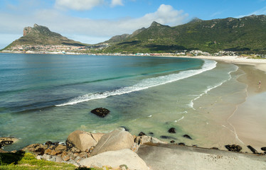 Beautiful beach in Hout Bay, South Africa