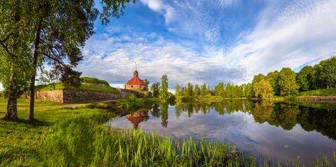The city of Priozersk. Russia. Museums of Karelia. Karelia. The fortress in Karelia. Panorama of Priozersk. Cities of Russia. Korela fortress museum