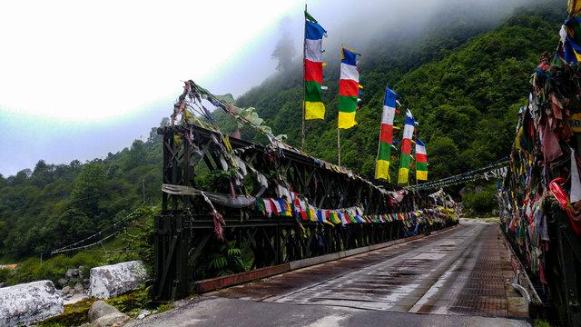 Bridge Over Teesta In North Sikkim