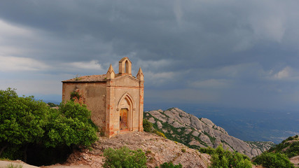 Chapel in Montserrat Mountains near Barcelona, Spain