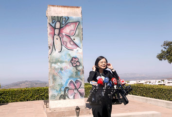 Taiwanese President Tsai Ing-wen makes a visit to the Ronald Reagan Presidential Library in Simi Valley, California