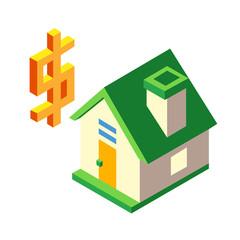 Real estate Isometric illustration