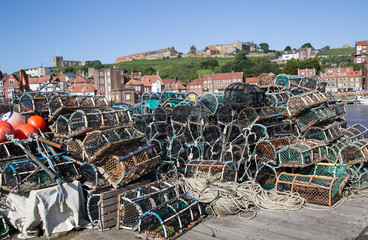 Crab pots in Whitby England