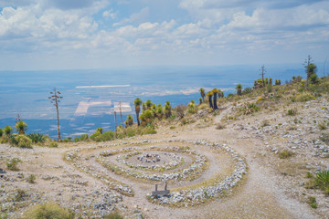 Wirikuta, sacred mountain for the Huicholes community at Real de Catorce desert in San Luis Potosi, Mexico