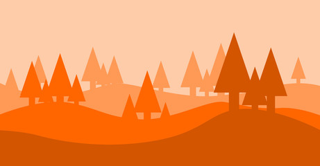 forest landscape serie