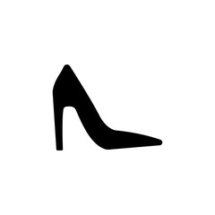 Platform high heels shoes icon