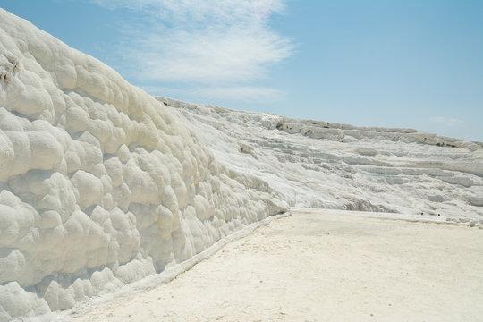 Pamukkale cotton castle. White desert
