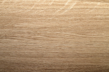 New and clean, smooth wood surface, oak Board.
