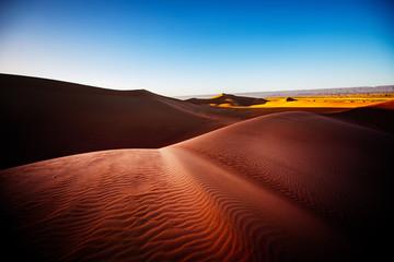 Deurstickers Rood paars Sahara desert, Morocco, Africa