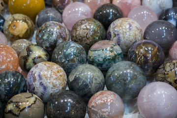 Bright Colorful Marble Balls cut in round shapes
