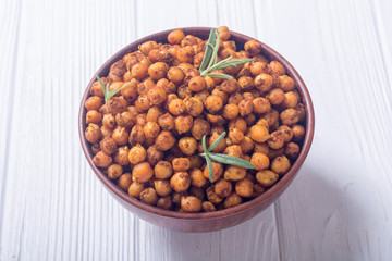 Roasted chickpeas with rosemary