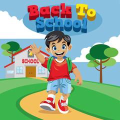 school boy cartoon
