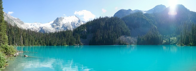 Panoramic Landscape of Middle Joffre Lake, Vancouver, British Columbia, Canada Wall mural