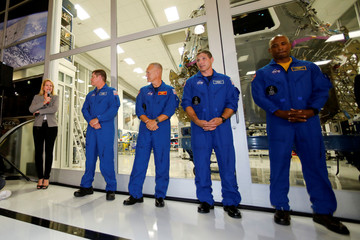 SpaceX president Gwynne Shotwell intorduces NASA Astronauts at SpaceX headquarters in Hawthorne,California