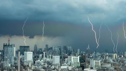 雷・ゲリラ豪雨・東京
