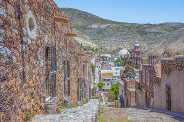 Beautiful Real de Catorce ghost town in San Luis Potosi, Mexico