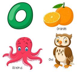 Illustration of O alphabet