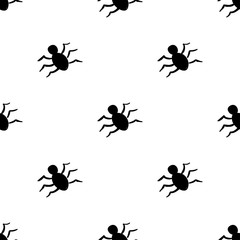 Halloween. Seamless pattern in elements of doodle and cartoon style.