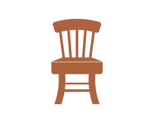 chair silhouette furniture furnishing household interior exterior home image vector icon logo