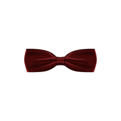 burgundy colored bow tie icon. Element of bow tie illustration. Premium quality graphic design icon. Signs and symbols collection icon for websites, web design, mobile app