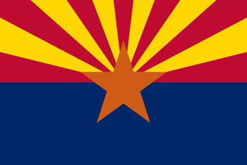 Flag of the USA State of Arizona, vector.