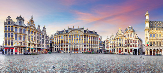 Fotorolgordijn Brussel Panorama of Brussels, Belgium