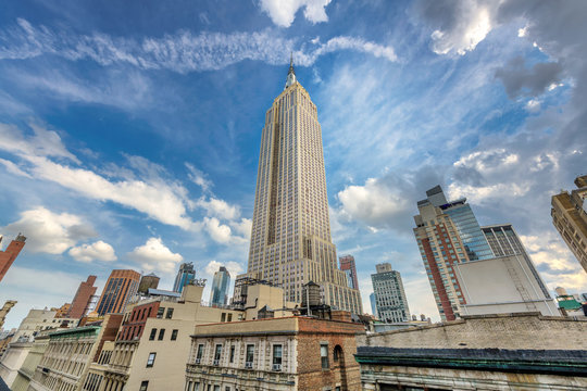 New York City. Manhattan downtown skyline with Empire State Building, NY, USA.