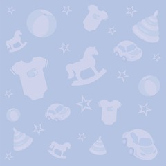 Vector blue baby background