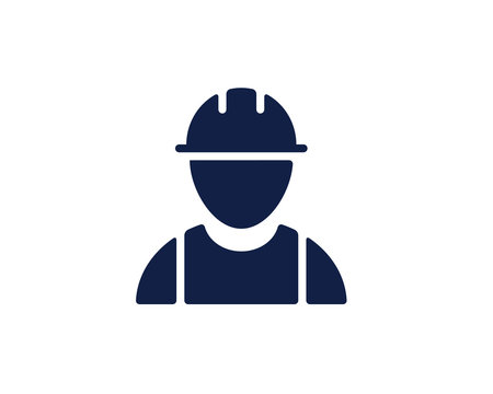 worker glyph icon , designed for web and app