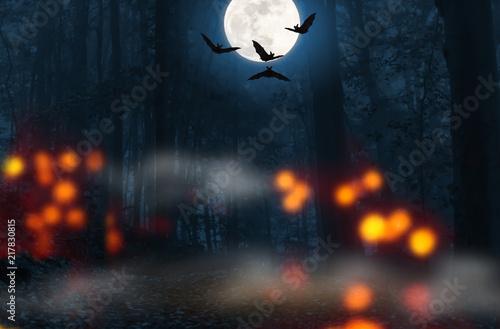 volmond fledermäuse halloween hintergrund