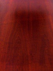 Mahogany is a kind of wood—the straight-grained, reddish-brown timber