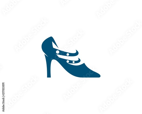 high heel logo vector template stock image and royalty free vector