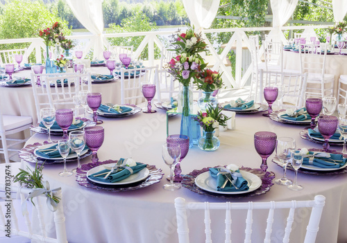 Wedding Decoration Wedding Table Decor In Lavender And Emerald
