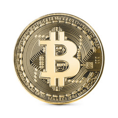 Bitcoin isolated on white backgound