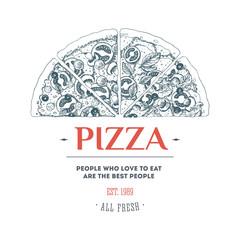 Pizza design template. Vector illustration