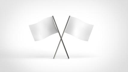 白旗 2本クロス