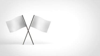 白旗 2本クロス 右コピースペース